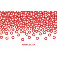 Falling hearts red flat icons conceptual abstract vector