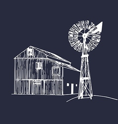 Farming building vector