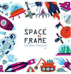 flat space frame vector image