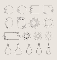 frames logo elements vector image