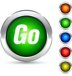 Go button vector image