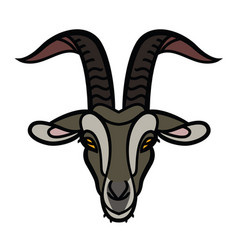 Goat head icon vector