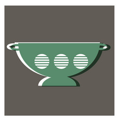 Green bowl flat design vector