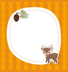 Greeting card with cute deer greeting card with vector