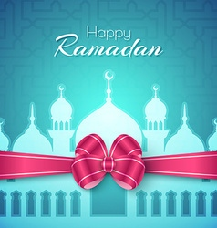 Happy Ramadan Islamic Greeting Background vector
