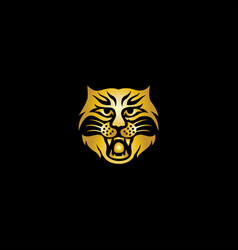 Head tiger abstract logo vector