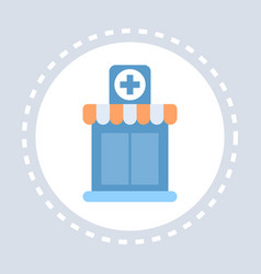 hospital cross building icon healthcare medical vector image