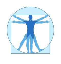 Human body icon vitruvian man vector