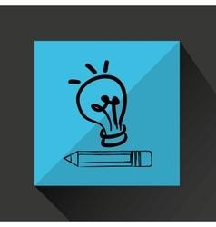 idea bulb creativity vector image