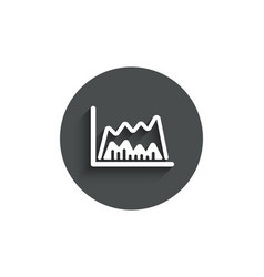 investment chart simple icon finance graph vector image