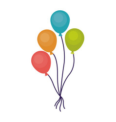 isolated balloon of celebration design vector image