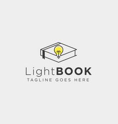 Light bulb learning line logo template icon vector