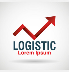 Logistic emblem business icon vector