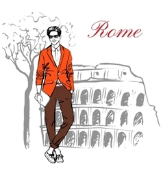 Man in Rome vector