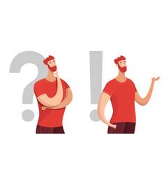 Man making decision flat characters set vector