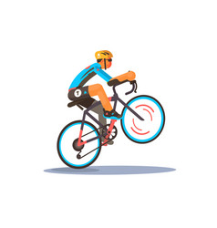 man riding sport bike vector image