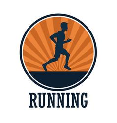 man running sport vector image