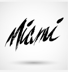 Miami grunge sign vector