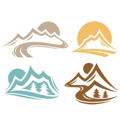 Mountain Elements vector image vector image