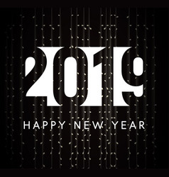 new year greeting card 2019 year sign vector image