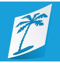 Palm sticker vector image