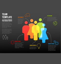 people team infographic template vector image