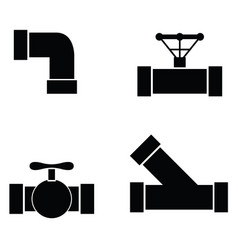 pipe icon set vector image