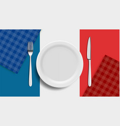 realistic plate french cuisine banner blank vector image