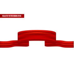 realistic red ribbon as a banner vector image