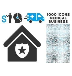 Realty protection icon with 1000 medical business vector