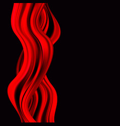 red paint drips abstraction red wave on a black vector image