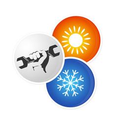 Repair air conditioner design vector