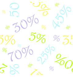 sale colorful seamless pattern vector image