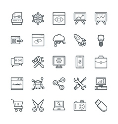 SEO and Internet Marketing Cool Icons 1 vector