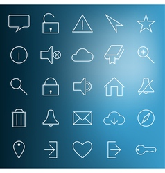 set modern web icons vector image