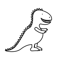 silhouette dinosaur toy flat icon vector image