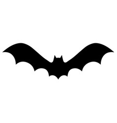 silhouettes bat vector image