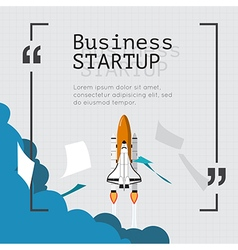 Space shuttle for business start up concept vector