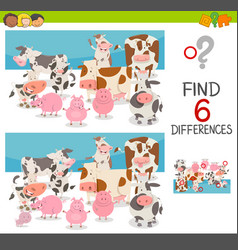 Spot differences with animals vector