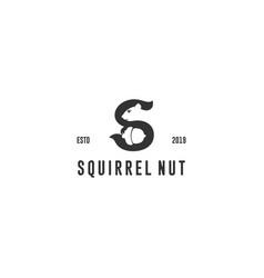 Squirrel nut logo vector