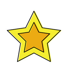 star cartoon icon image vector image