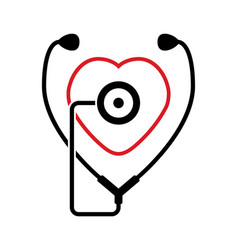 symbol medical stethoscope vector image