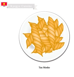 Tan Mosho or Kyrgyz Fried Bread vector image