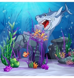 underwater world and evil vector image