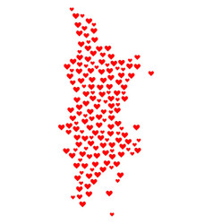 Valentine mosaic map of phuket vector