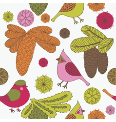 vintage screenprint nature vector image