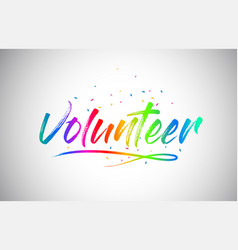 Volunteer creative vetor word text with vector