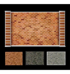 Wall of bricks vector