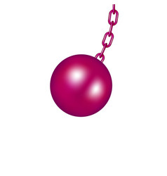 Wrecking ball in pink design vector