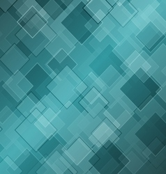 Abstract green background with rhombus vector image vector image